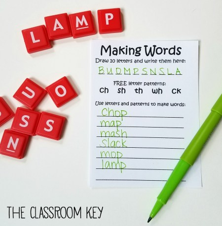 making words activity