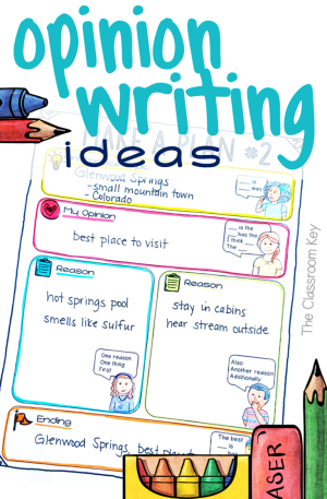 4 Amazing Opinion Writing Ideas to Try Now for elementary teachers