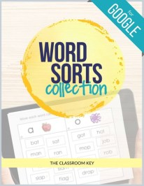 word sorts for Google classroom