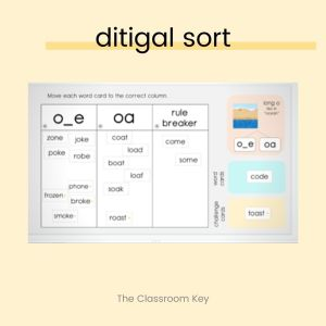 Use digital word sorts to practice spelling using technology