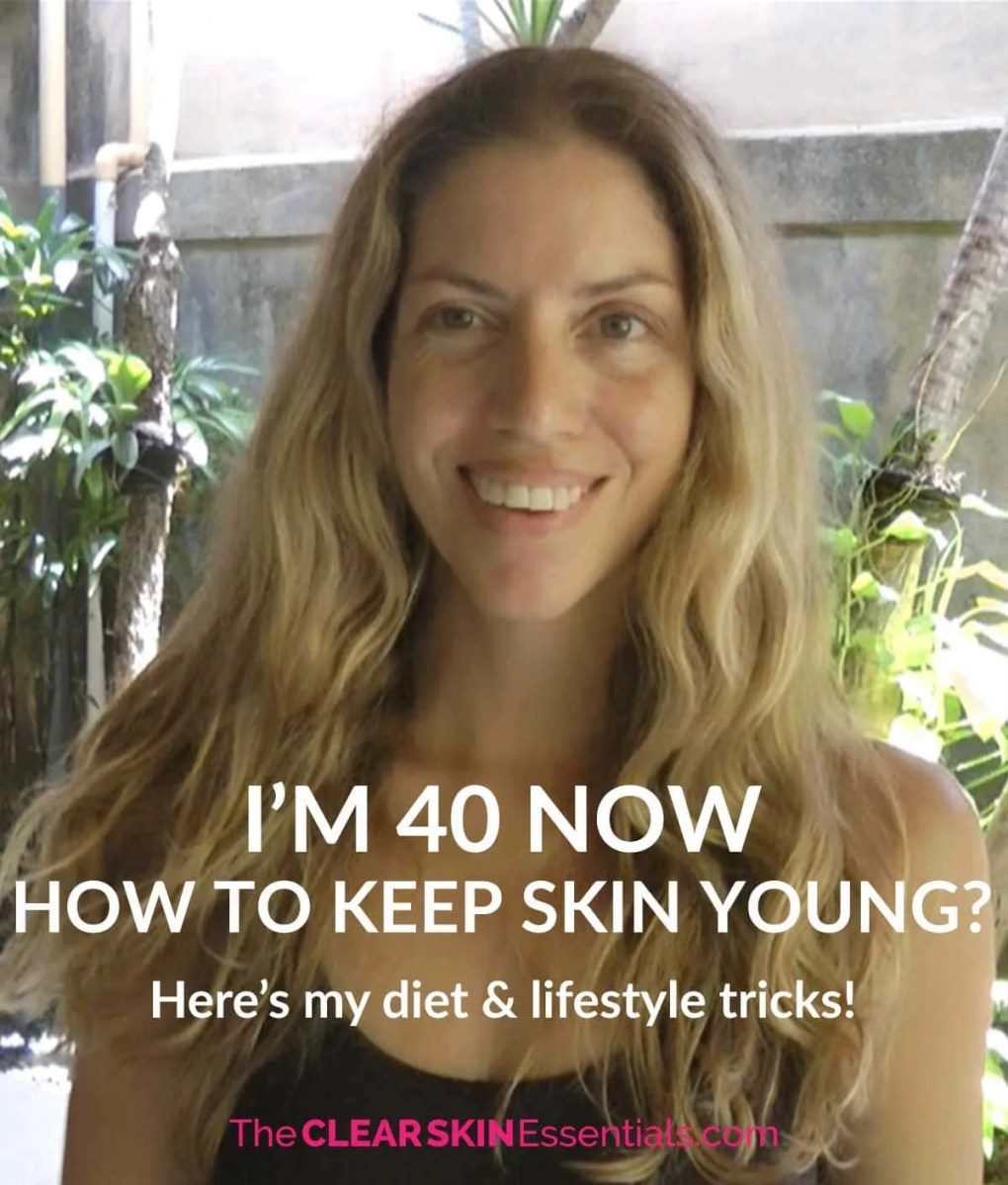 I just turned 40! Having a healthy diet and lifestyle has not only helped me to get rid of breakouts and acne, but it has also helped me keep my skin young - click through to read my diet and lifestyle tricks for healthy, young, clear, radiant skin. | www.TheClearSkinEssentials.com