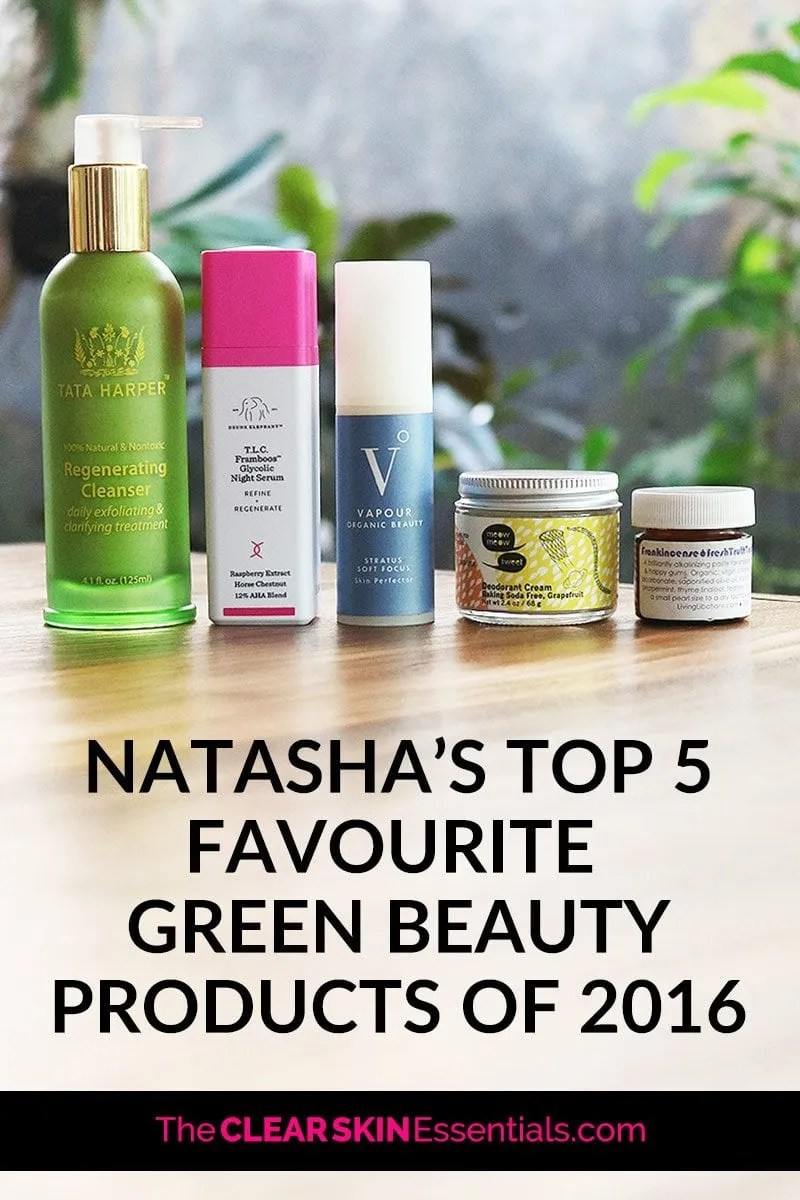 You know when you start using a new product that you just fall in love with, and wish you had a lifetime supply of? These are my top 5 favourite green beauty products I started using this year. Click through to read a mini review of each product and why I adore them so much. | www.TheClearSkinEssentials.com