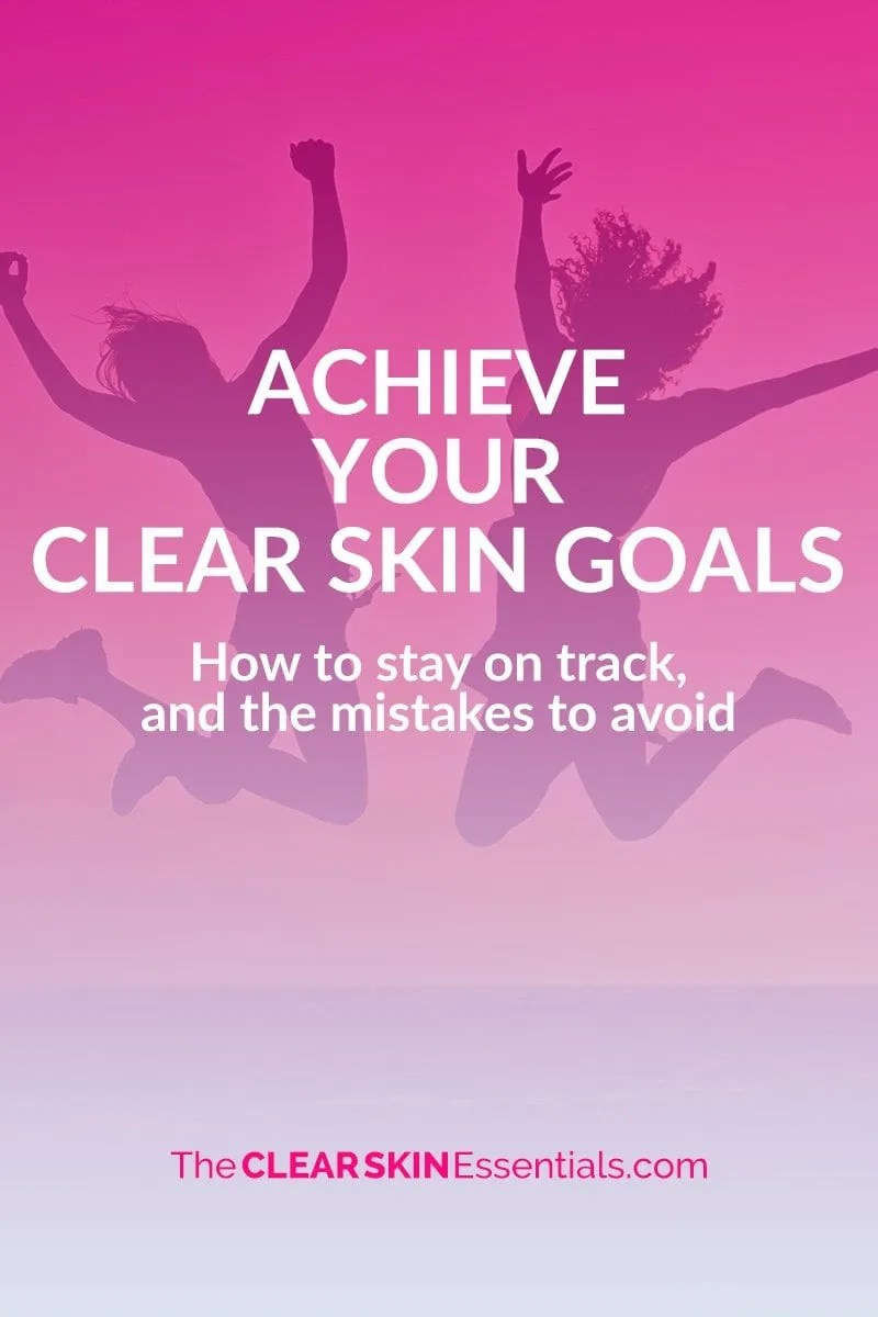 As a health coach I see a lot of people kick off the new year with fresh excitement and determination to reach their goals only to forget about them a few weeks later. I don't want this to happen to you. I want you to make 2017 the year you succeed. If one of your goals is to clear up breakouts or adult acne and get the best skin ever, and you want to improve your diet and skincare routine to do so - click through to check out today's blog post. | www.TheClearSkinEssentials.com