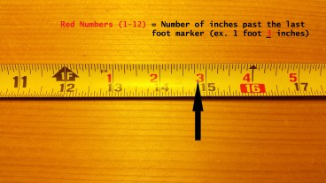 how to read a tape measure and understand tape measure increments. Black Bedroom Furniture Sets. Home Design Ideas