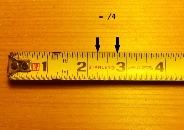 How to read a tape measure and tape measure increments quarters
