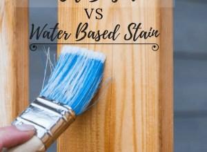 oil based vs water based stain