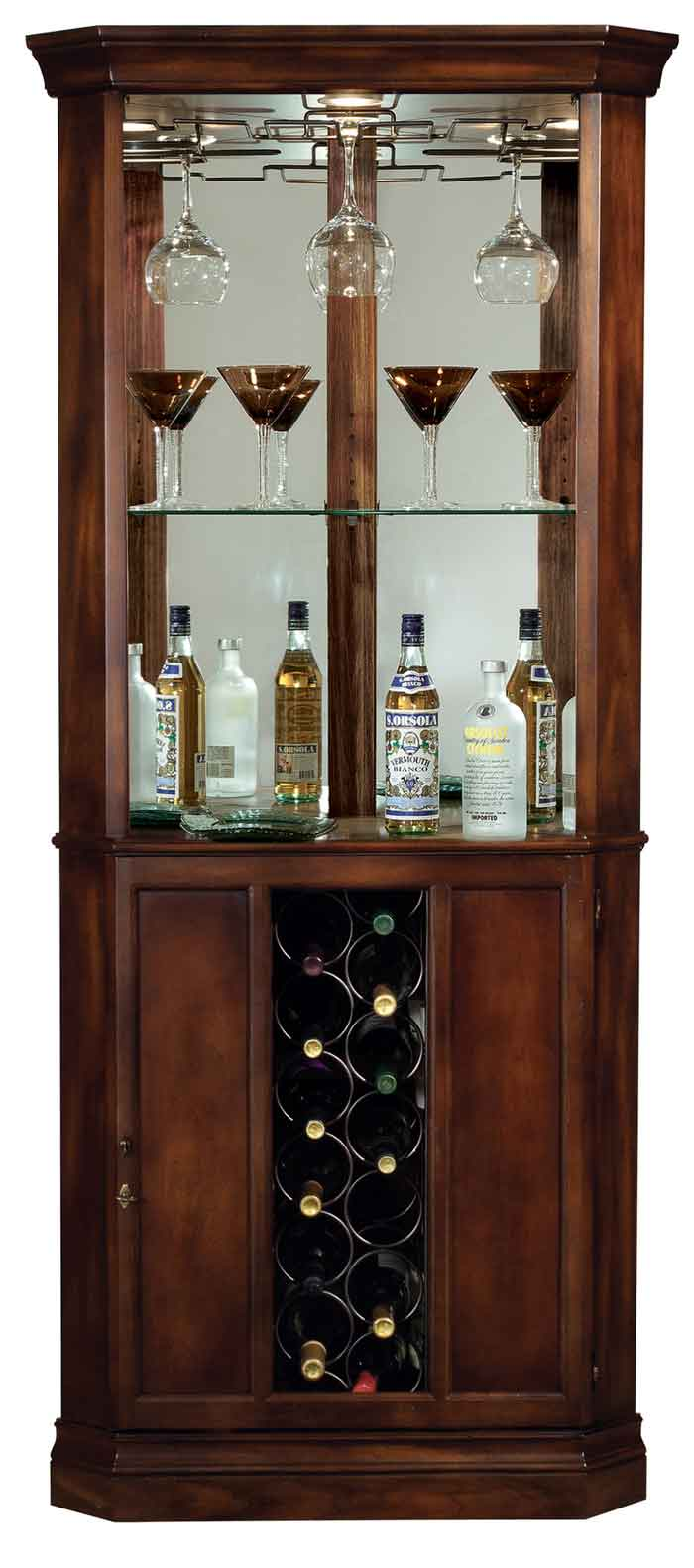 Howard Miller Piedmont 690 000 Corner Wine Cabinet The
