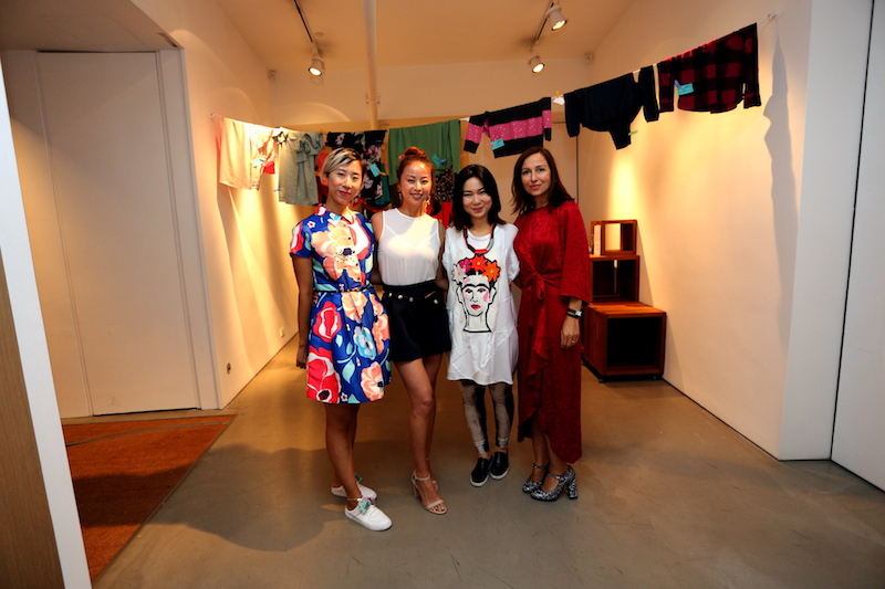 Hayley Lyla, Olivia, Christy Chow and Tanja Wessels. Christy is an artist. Creating video installations and interactive sculptures that concern humanity, sustainability and social justice