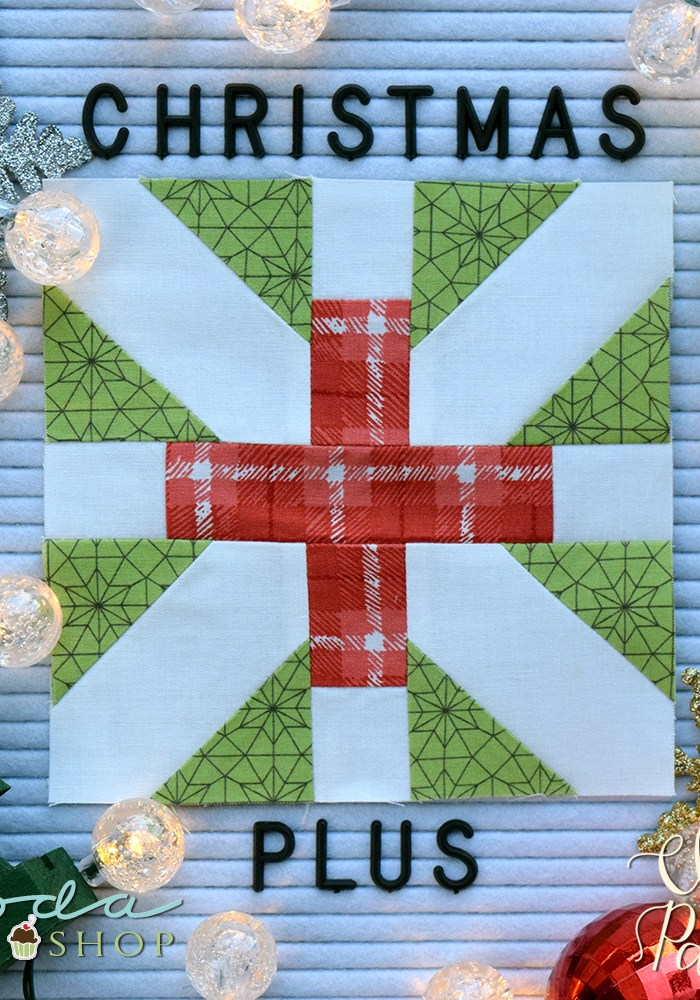 Make This: Christmas Plus Quilt Block Tutorial