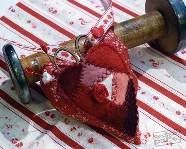 Crazy quilt heart pincushion 2