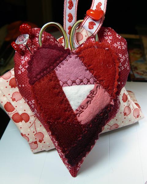 Crazy quilt heart pincushion 3