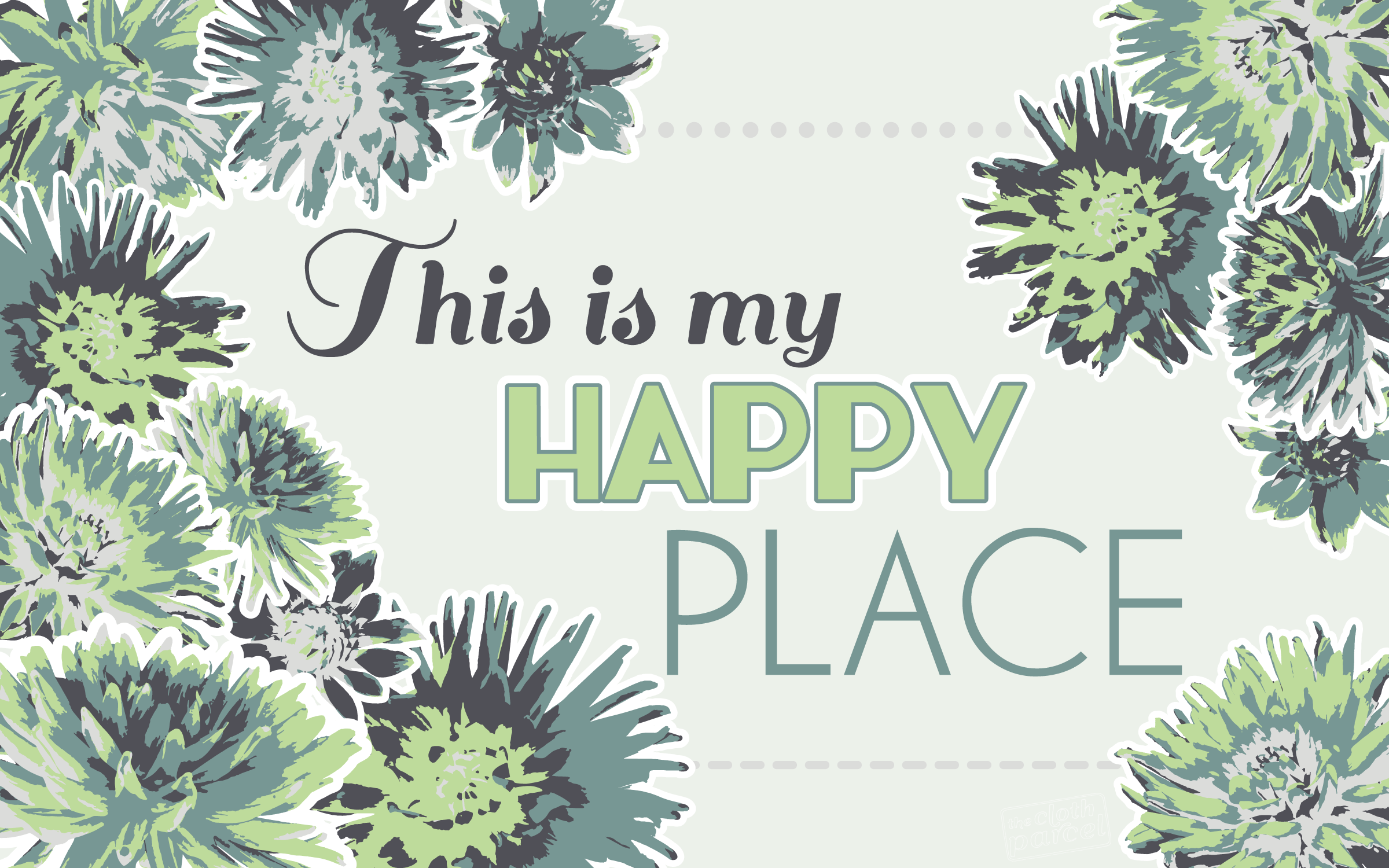 Design Freebies: This Is My Happy Place