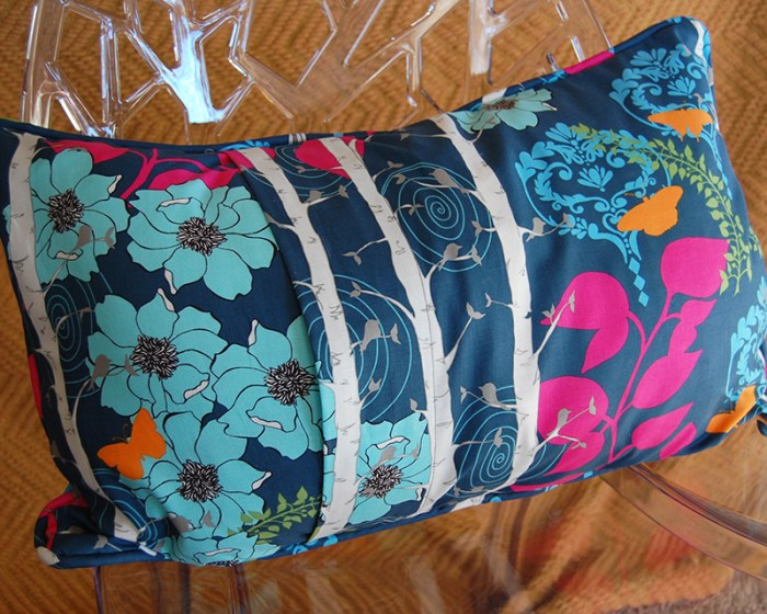 Patchwork Pillow back
