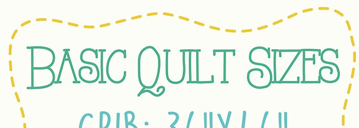 Design Freebie: Basic Quilt Sizes Printable