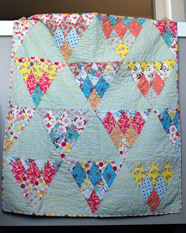 Scrappy Pennant Baby Quilt