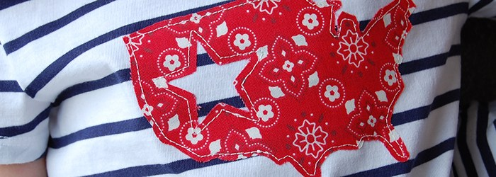 Make This: 4th of July Appliqued T-Shirt Tutorial