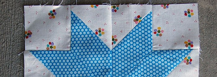 Make This: Half Star Flower Quilt Block Tutorial