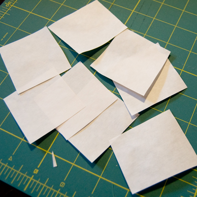 Freezer Paper Squares
