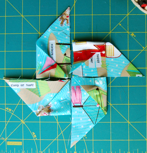 Folded Pinwheel Step 3