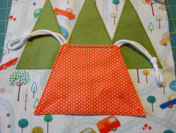 sew tent to page