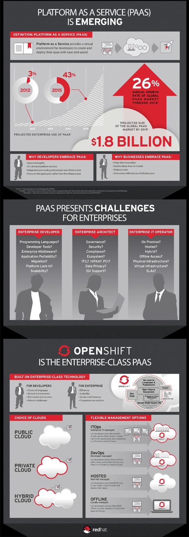 enterprise paas infographic