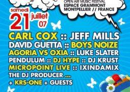 Festival Electromind @ l'Espace Grammont (Montpellier) le 21 juillet 2007