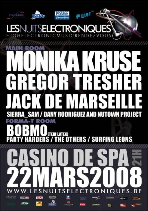 Les Nuits Electroniques @ Casino de Spa le samedi 22 mars 2008