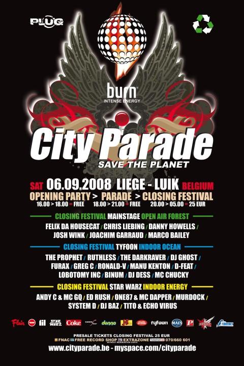 City Parade 2008 @ Liège le 6 septembre 2008