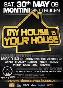 Voyage dans le temps ce samedi 30 mai au Montini, My House is Your House