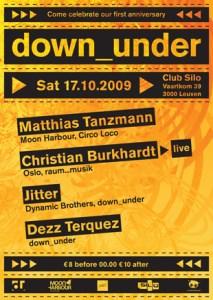 down_under fête ses un an avec Matthias Tanzmann et Christian Burkhardt ce samedi 17 octobre au Silo à Louvain