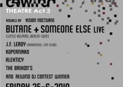 Rewind Act 3 au Théâtre National avec Someone Else et Butane ce 25 juin