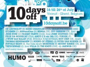 10 Days Off 2010