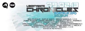 Liberty White Chronicles 2013, le 9 février au Courtrai XPO