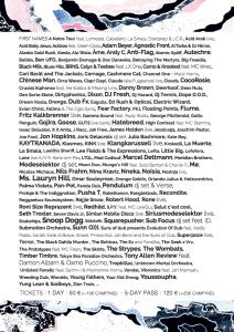 Dour Festival 2015 - Line Up au 27 Mars