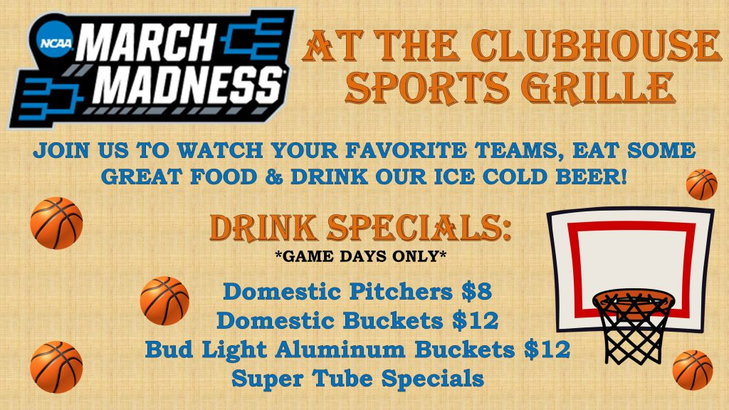 Click Here To Find Out About Our March Madness Specials