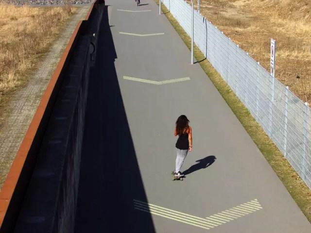 Park am Gleisdreieck Skaterin