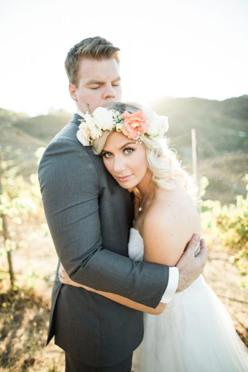 bride and groom wedding portrait Southern California vineyard french wedding; 2016 Sucked and This is What I Learned From It