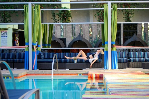 The Clumsy Traveler chilling poolside at the Clarendon Hotel and Spa