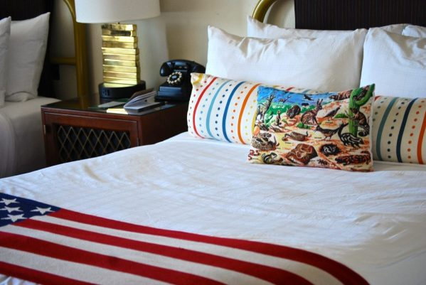 The Graduate Hotel Tempe Arizona- hotel bed and animal pillow