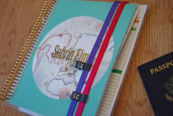 4 Stylish Hacks to Stay Organized While Traveling featuring Erin Condren planner bands