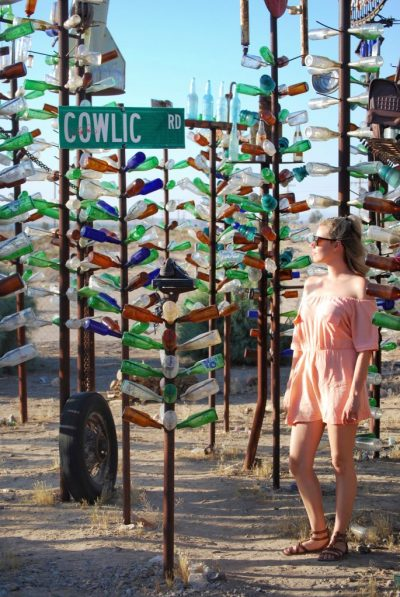 epic road trip to Las Vegas from Los Angeles; Elmer's Bottle Tree Ranch