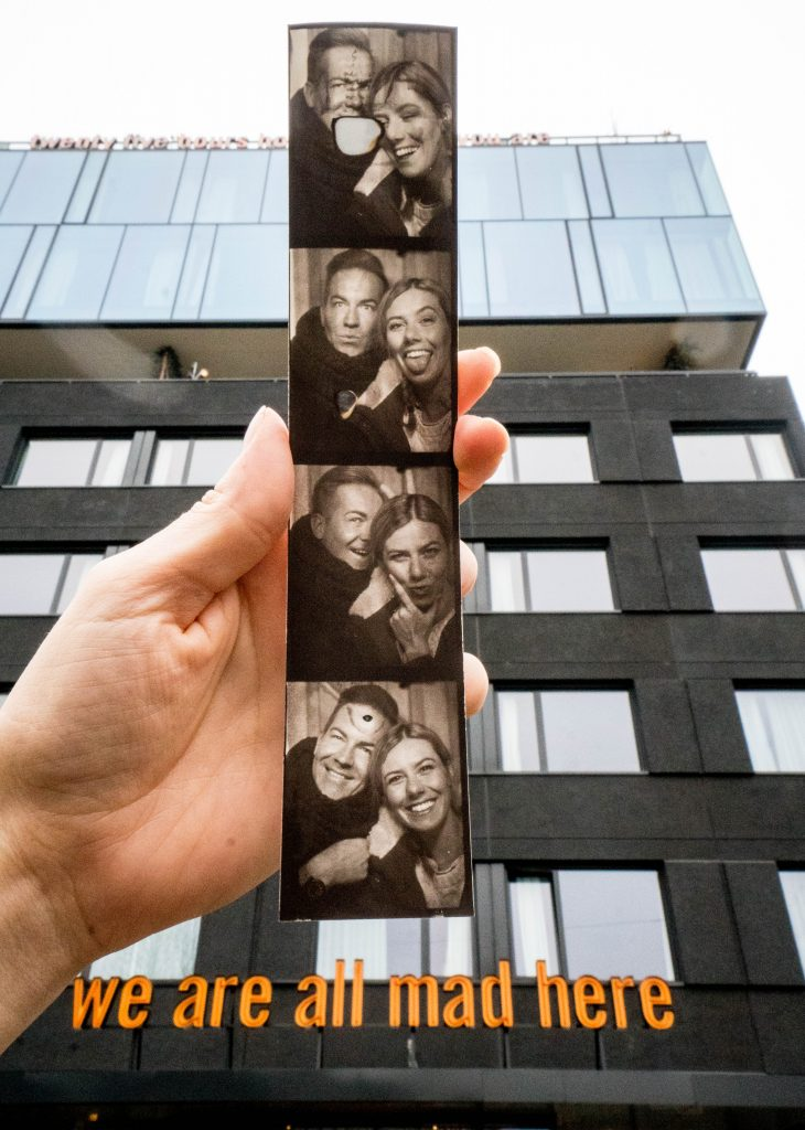 25Hours Hotel at the Museum Quarter Vienna Austria; photobooth and exterior shot