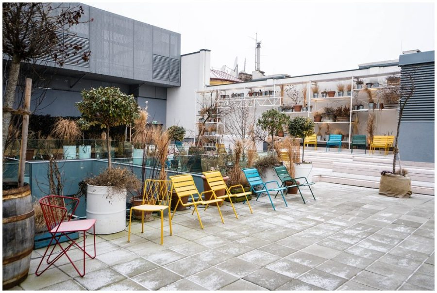 Staying at Ruby Marie; exterior rooftop terrace