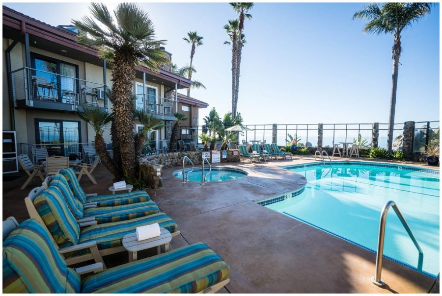 Staying at The Inn at The Cove; exterior pool
