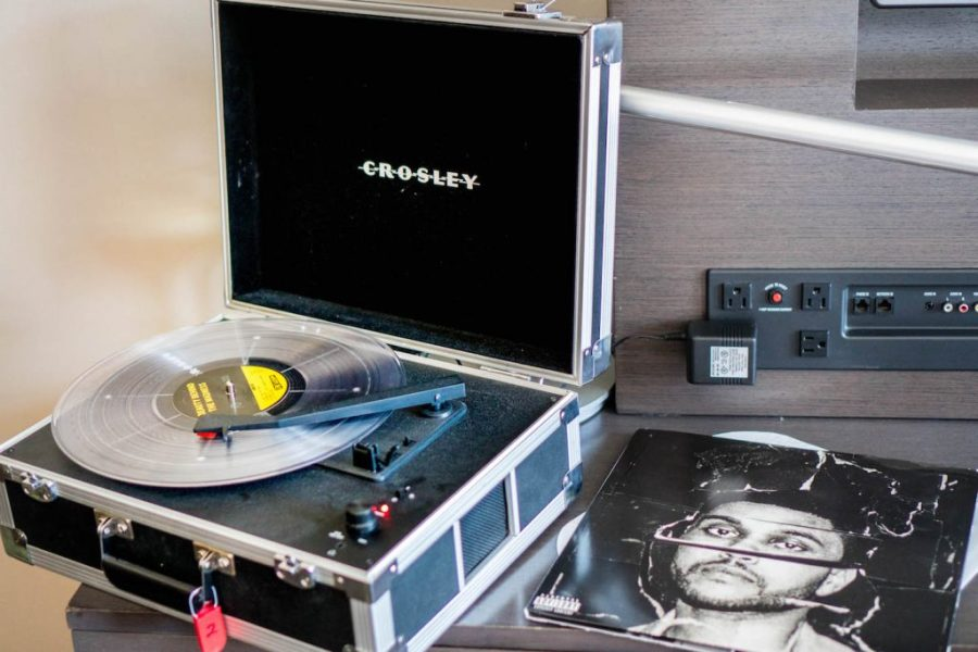Staying at the Hard Rock Hotel San Diego; record player