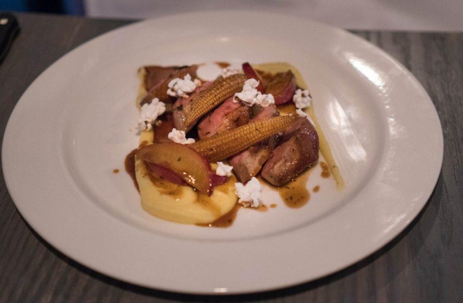 EATT Gourmet Bistro; duck breast corn and puree