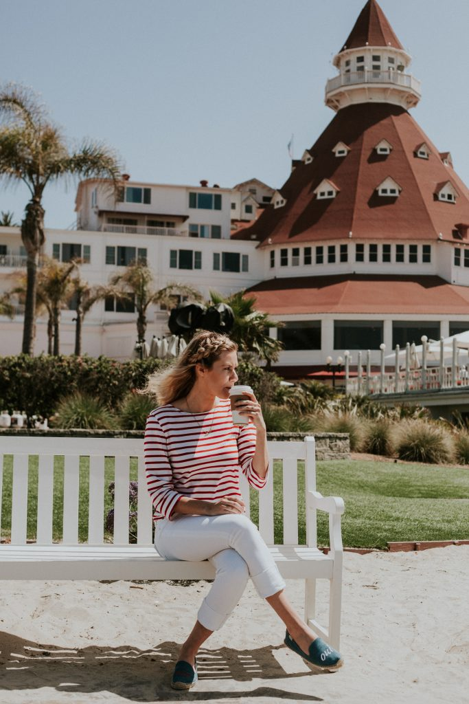 Perfect Stay at Hotel Del Coronado; girl drinking coffee
