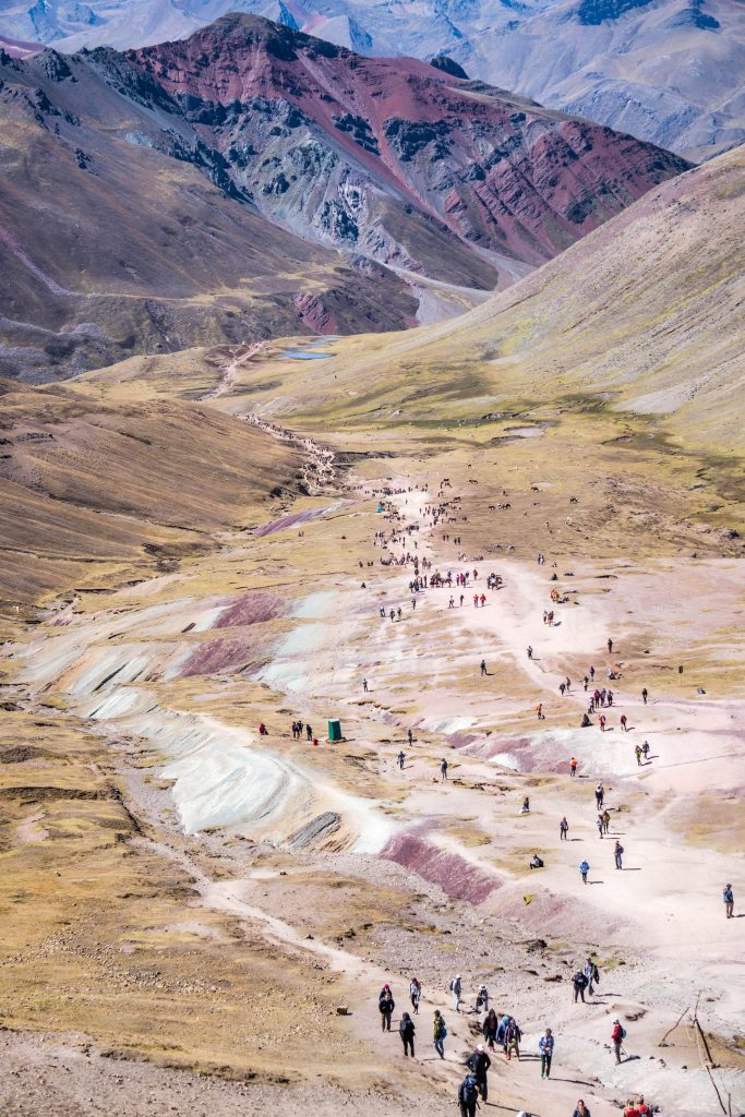 photos of Peru; Rainbow Mountain hike
