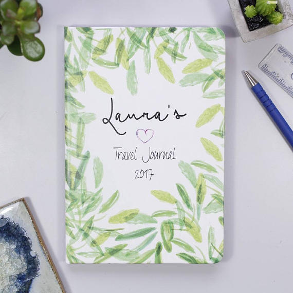 best holiday gift list; Etsy personalized travel journal