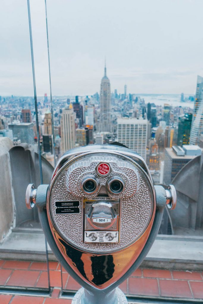 48 hours in New York; Top of the Rock viewpoint observatory deck